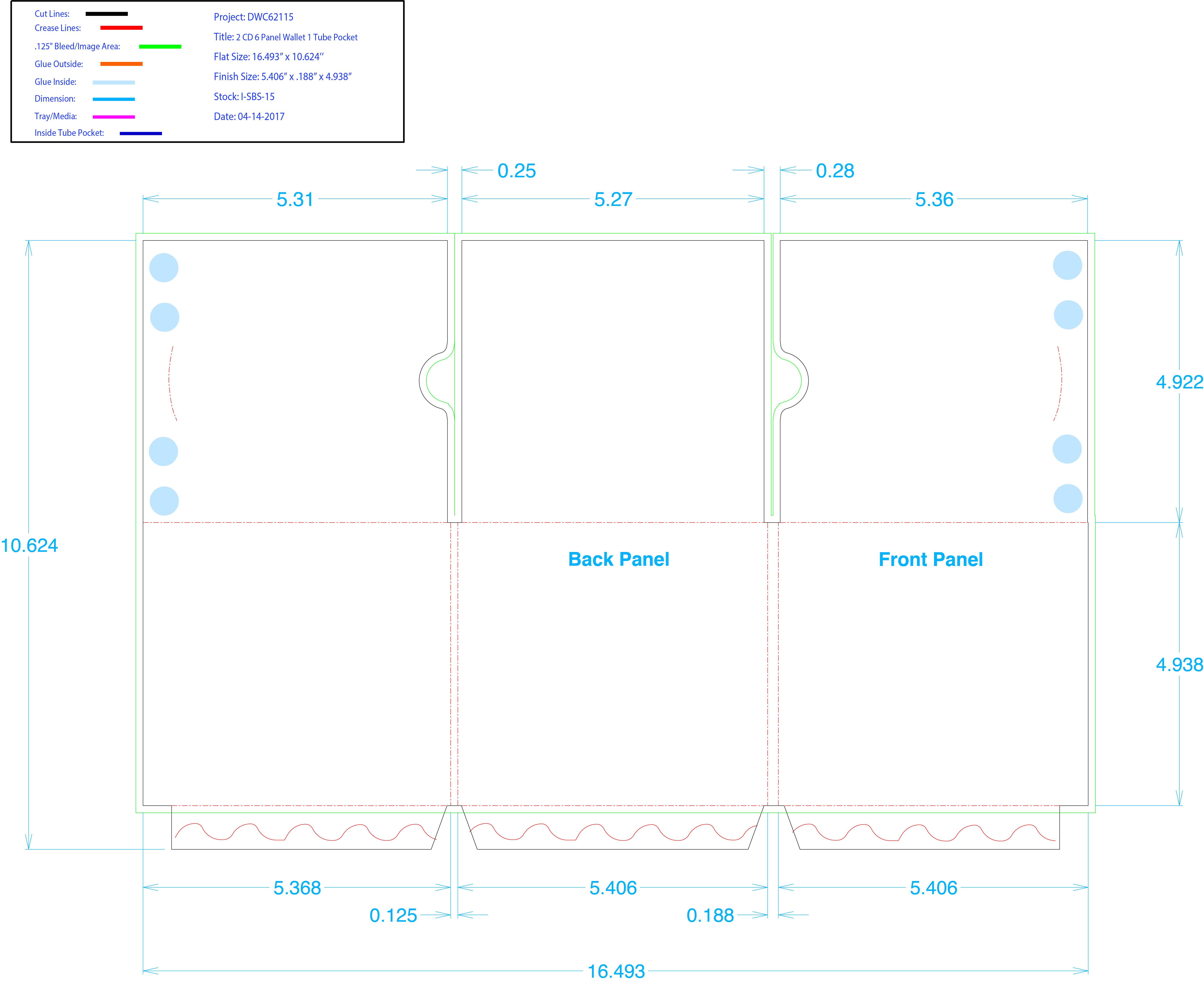 DWC62114 - 2 CD Pkts w/Thumb Notch, 1 Tube Pocket