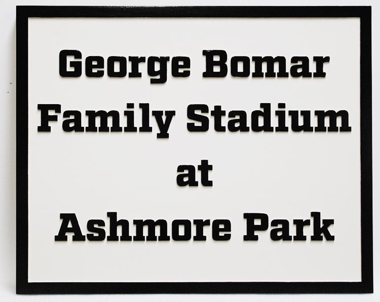 GA16543 -  2.5-D HDU Sign for the George Bomar Family Stadium at Ashmore Park