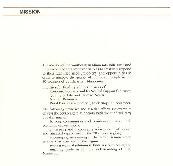 1st Mission Statement