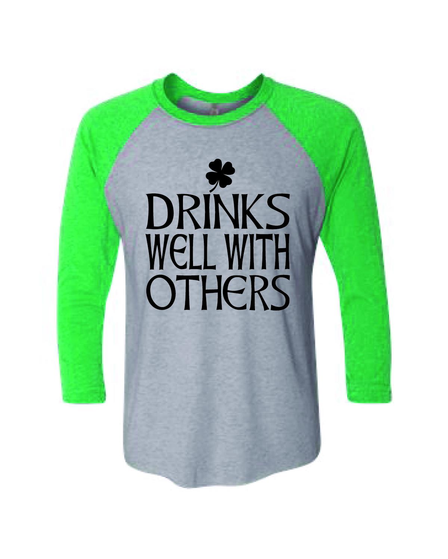 Baseball T-Shirt Drinks Well