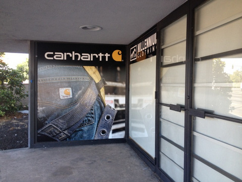 Vinyl wind cling for retail stores in Orange County