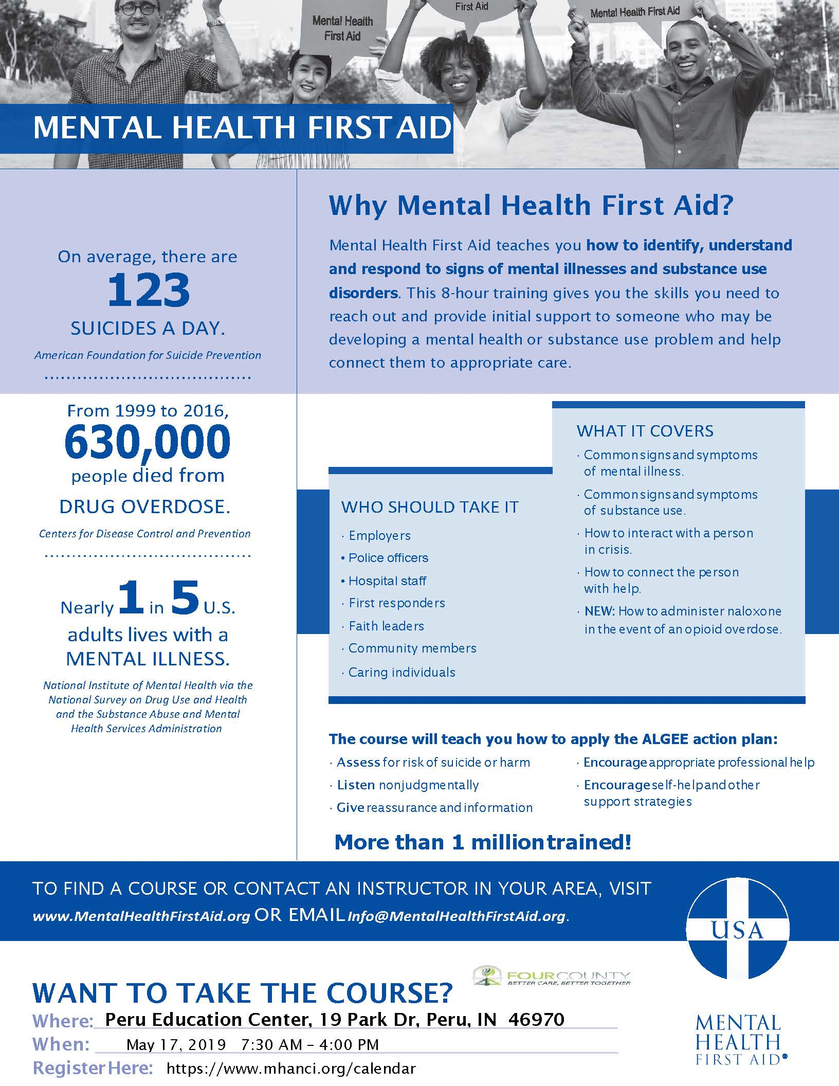 Mental Health First Aid Adult  - Peru, Indiana