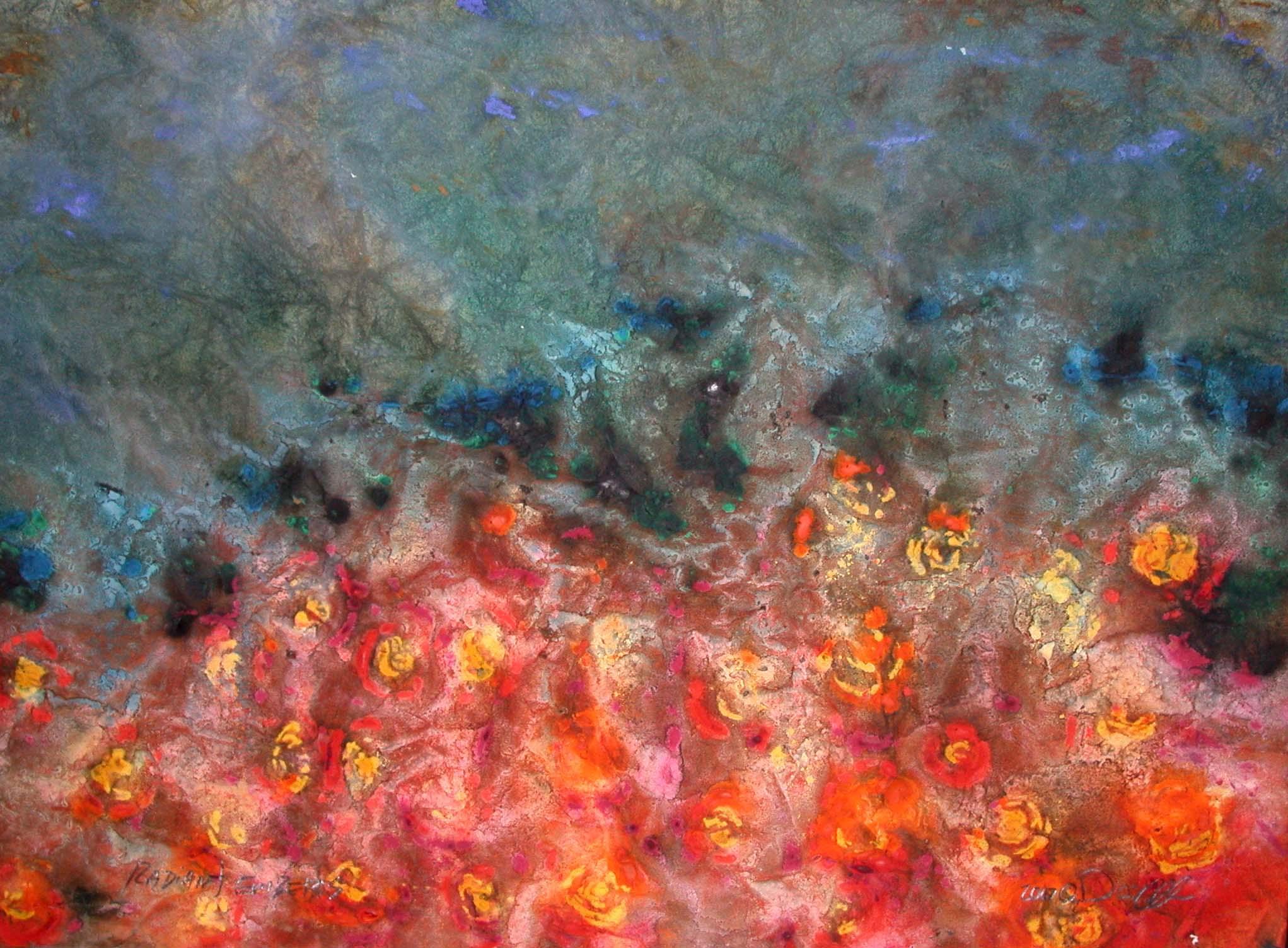 Radiant Embers watercolor ©David Alles