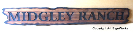 M3924 - Rustic and Aged Wooden Ranch Sign (Gallery 23)