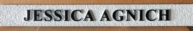 C12511 - Sandblasted Name Plaque