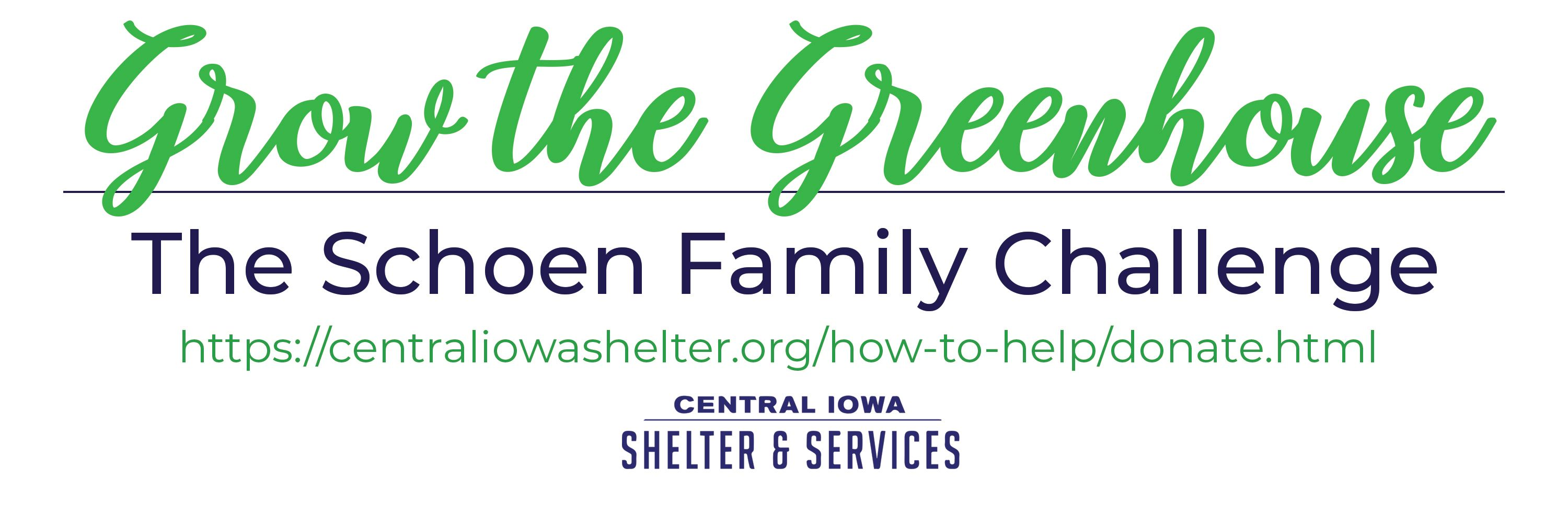 $50,000 DONATION ANNOUNCED TO EXPAND CENTRAL IOWA SHELTER & SERVICES GREENHOUSE PROGRAM
