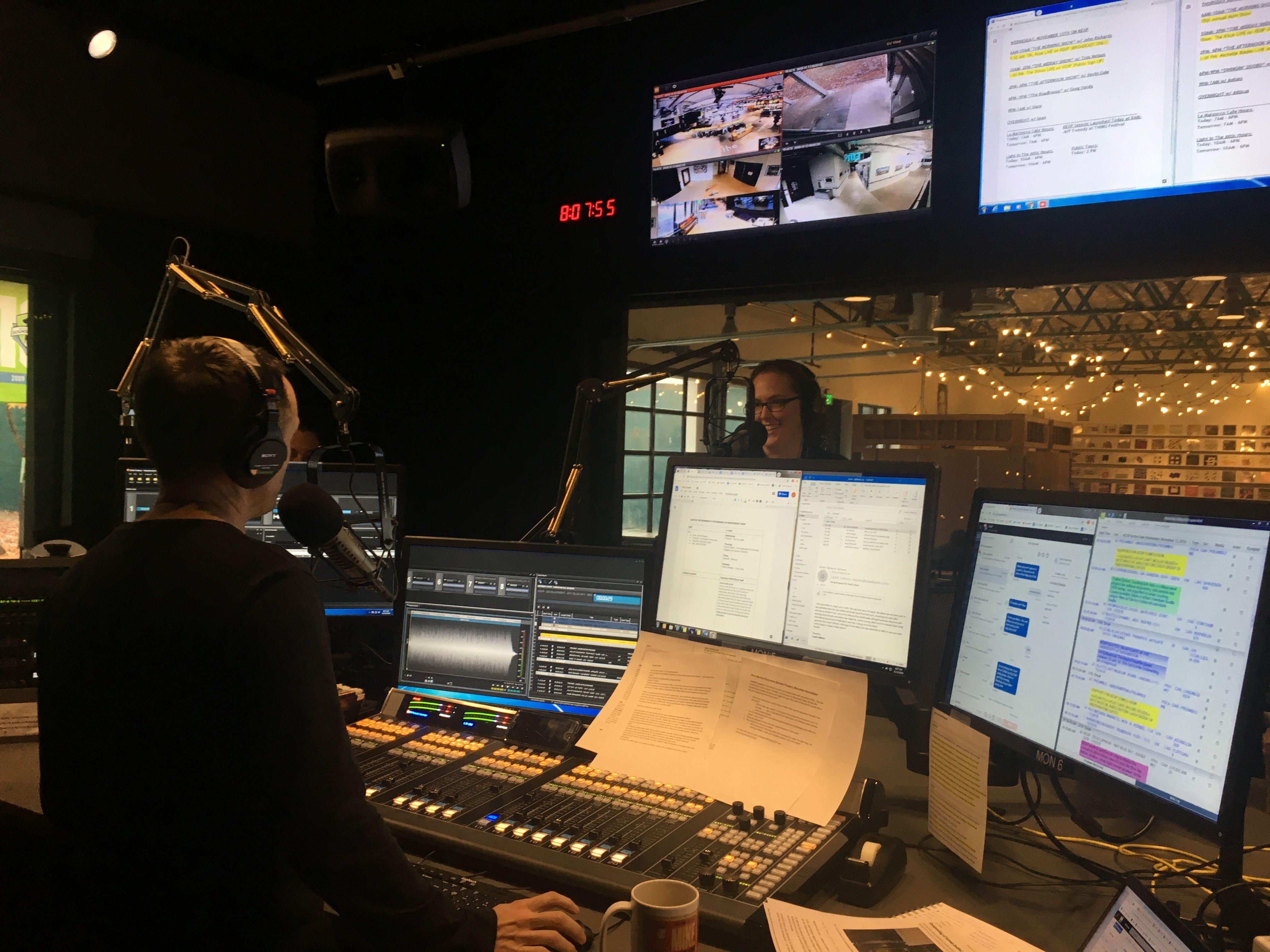 Nora on-air at KEXP: audio clip