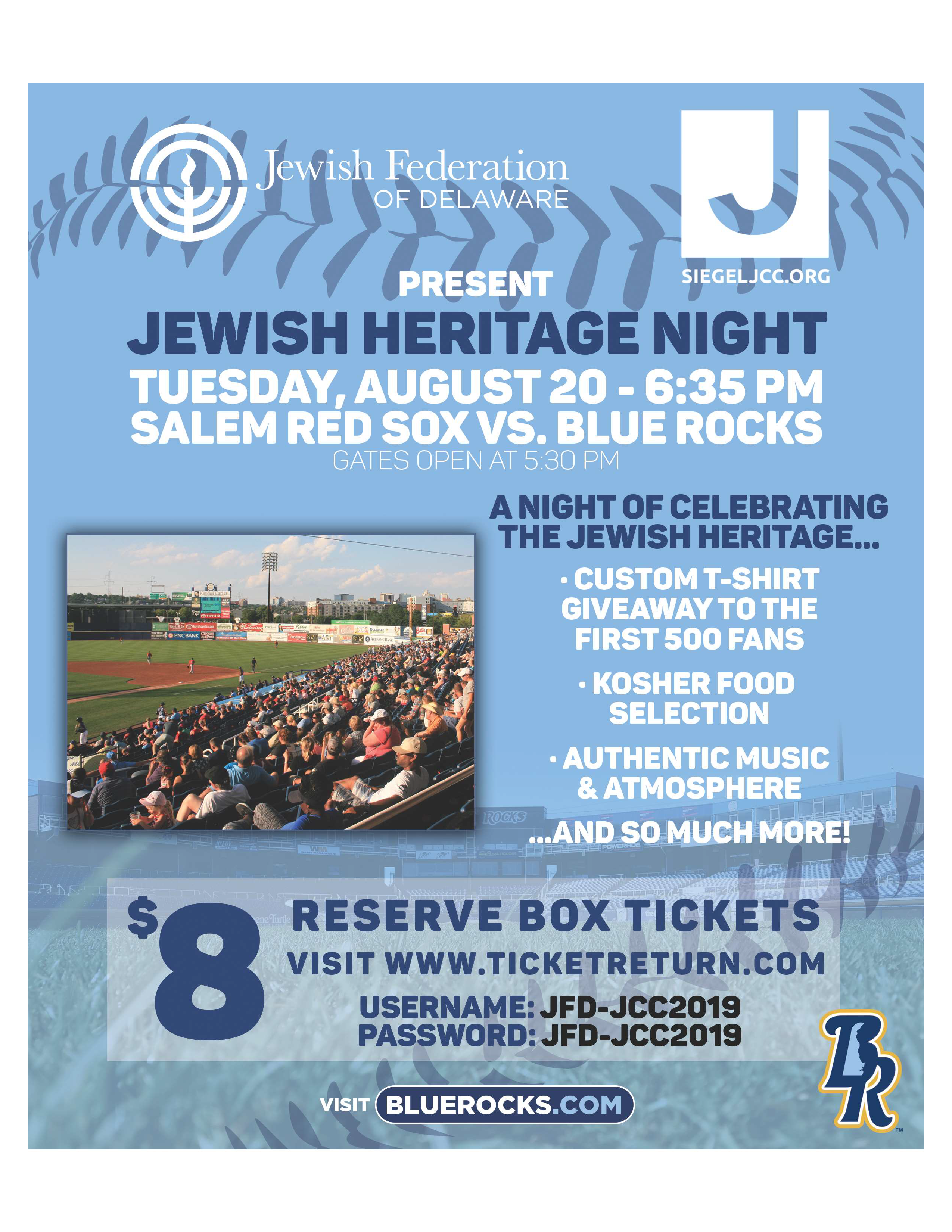 Jewish Heritage Night with the Blue Rocks