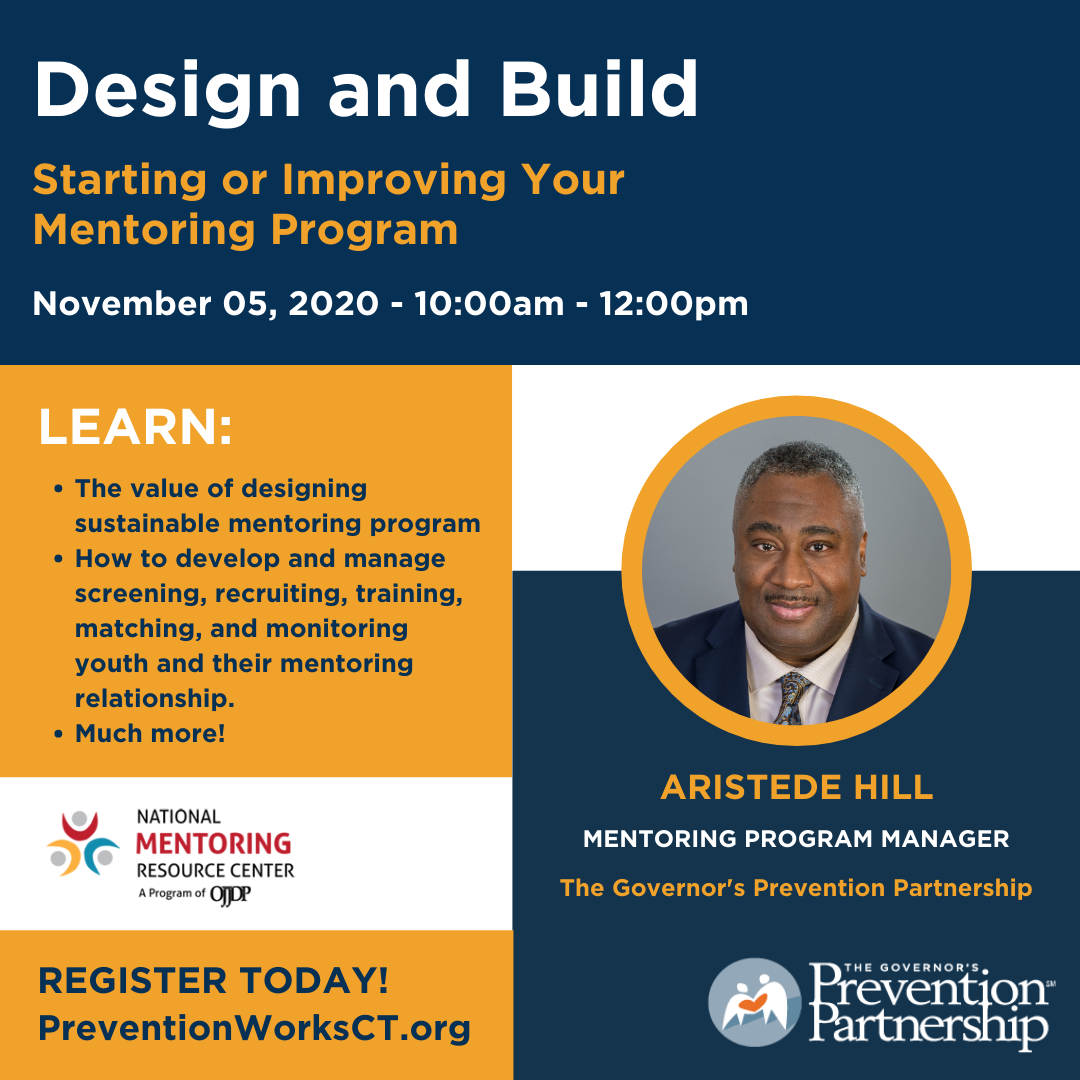 Design and Build - Starting or Improving your Mentoring Program