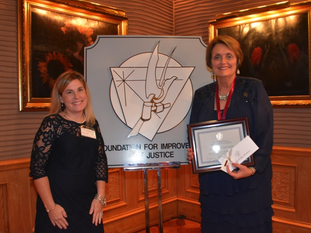 Foundation for Improvement of Justice honors FDR for success of Legal Services Initiative