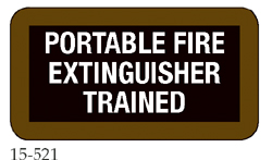 Portable Fire Extinguisher Trained