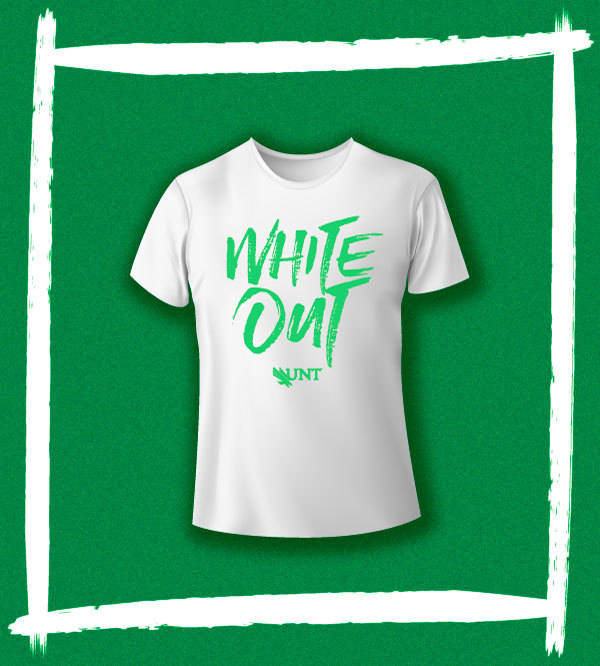 UNT WHITE OUT T-shirt - Small (S)