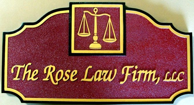 A10151 - Sandblasted HDU Law Firm Sign