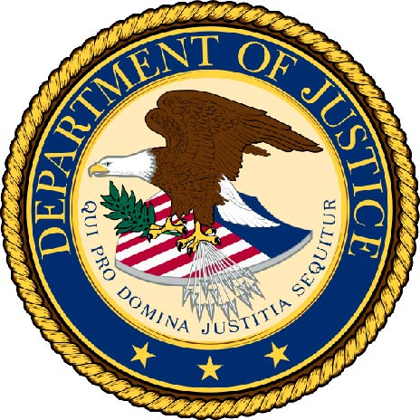 U30190 - Department of Justice (DOJ) Seal Carved 3D Wall Plaque