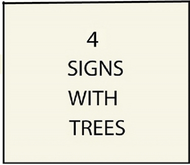 4. - I8300 -House and Estate Address Signs with Carved Hand-Painted Trees, Leaves, or Fruits