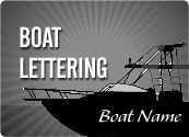 Boat Text Lettering