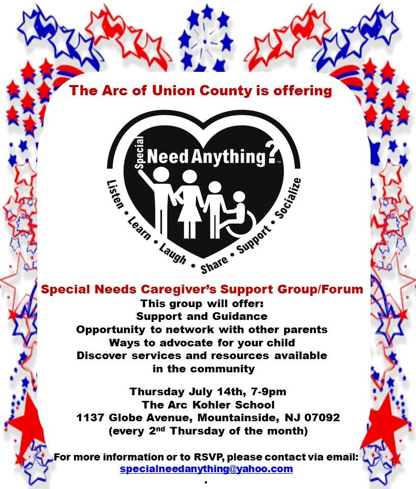 The Arc of Union County: Special Needs Caregiver's Support Group/Forum (Mountainside)