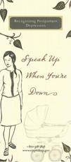 Speak Up When You're Down Brochure