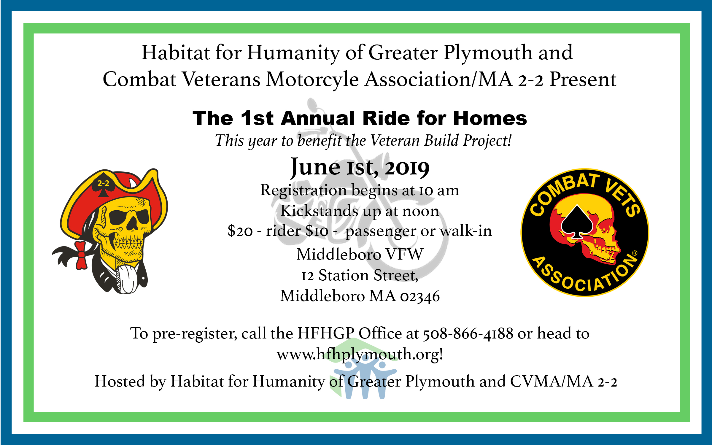 "First Annual ""Ride for Homes"" Motorcycle Ride"