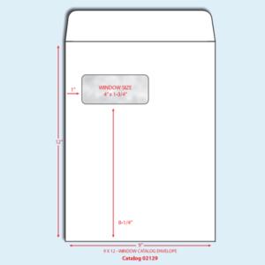 Item G912 - 9 X 12 Catalog/Open End Standard Window Envelope