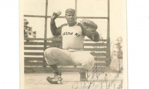 Military baseball player