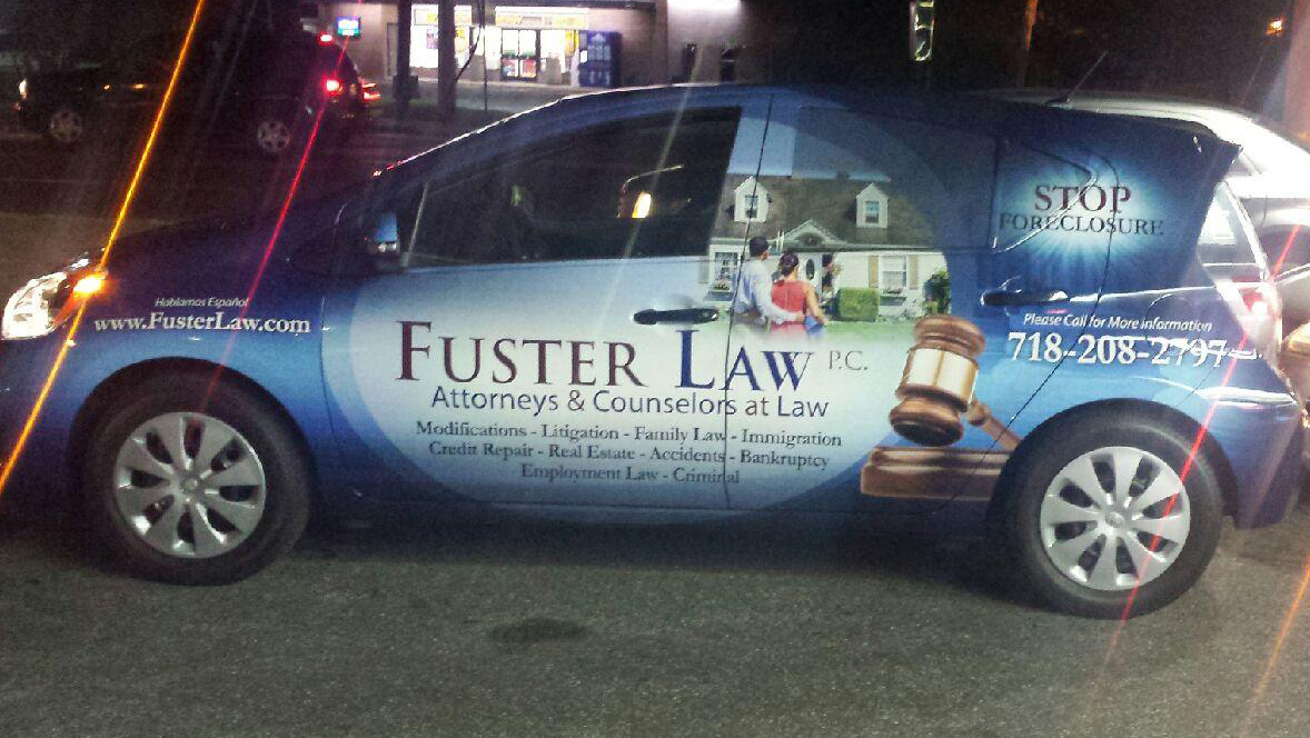 Vehicle Wrap - Fuster Law