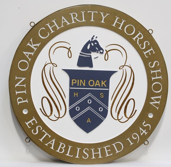 M1750 - Sign for the Pin Oak Charity Horse Show (Gallery 24)