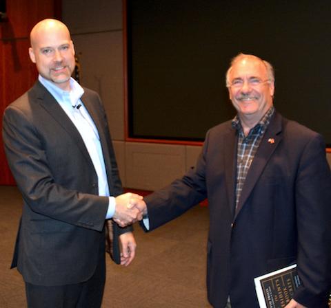 Dr. David Priess with NCMF President Dick Schaeffer at 2017 Summer Program