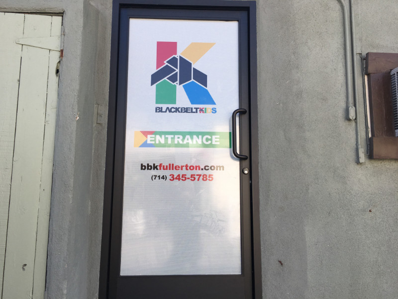 Perforated Vinyl Door Graphics Fullerton CA