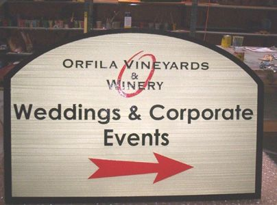 M1239 -  Winery Directional Sign (Gallery 26)
