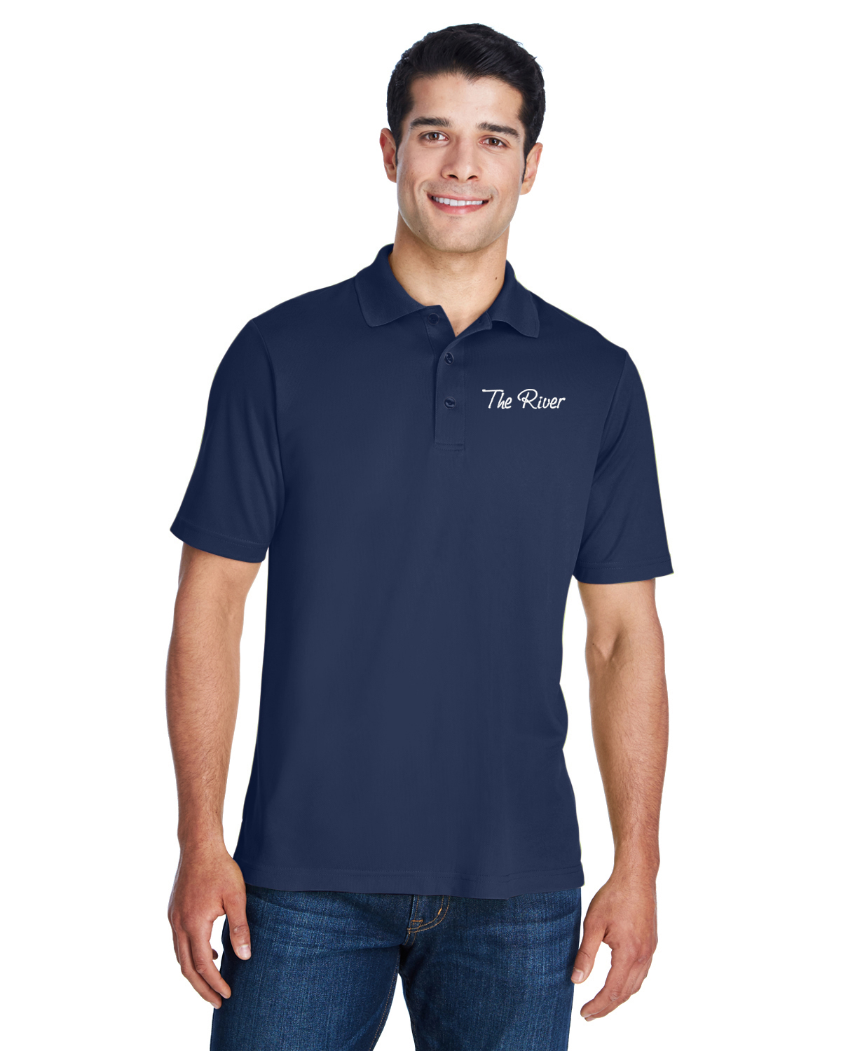 88181 Core 365 Men's Origin Performance Piqué Polo Classic Navy