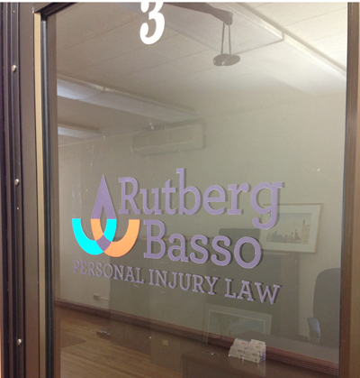 Window graphics - contour cut lettering