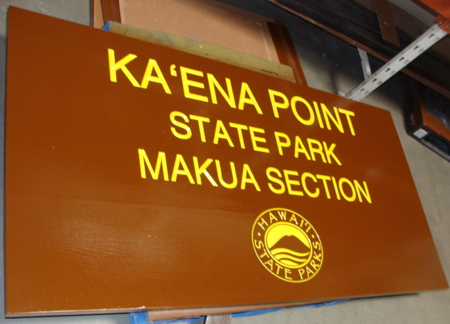 G16211 - Large Cedar Sign for Scenic Point in State Park