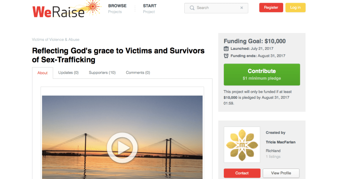 Join Mirror Ministries in raising $10,000 to help local victims of sex trafficking