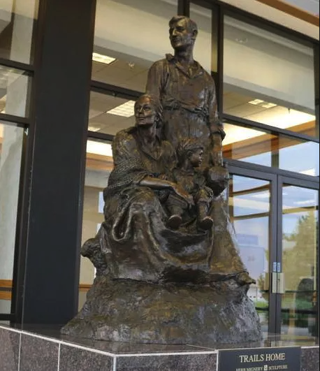 Picture of Trails Home statue at Gering Civic Center