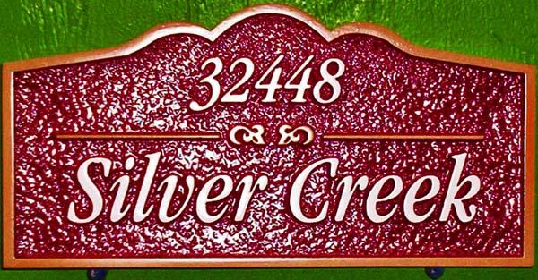 I18296 -  Carved HDU Address and Property Name Sign