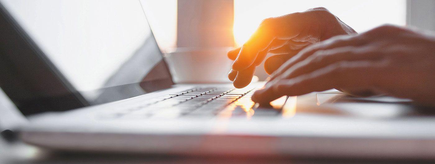 hands on keyboard, Spokes Marketing Portfolio