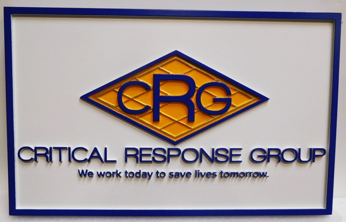 "S28124 - Carved HDU Commercial Sign  for the ""Criticaml Response Group "",  2.5-D Artist-Painted"