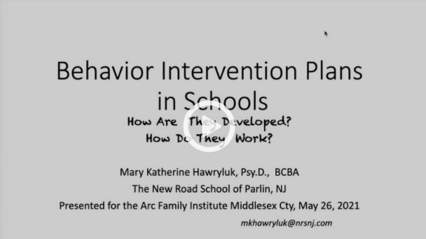 Creating Supportive Behavioral Intervention Plans