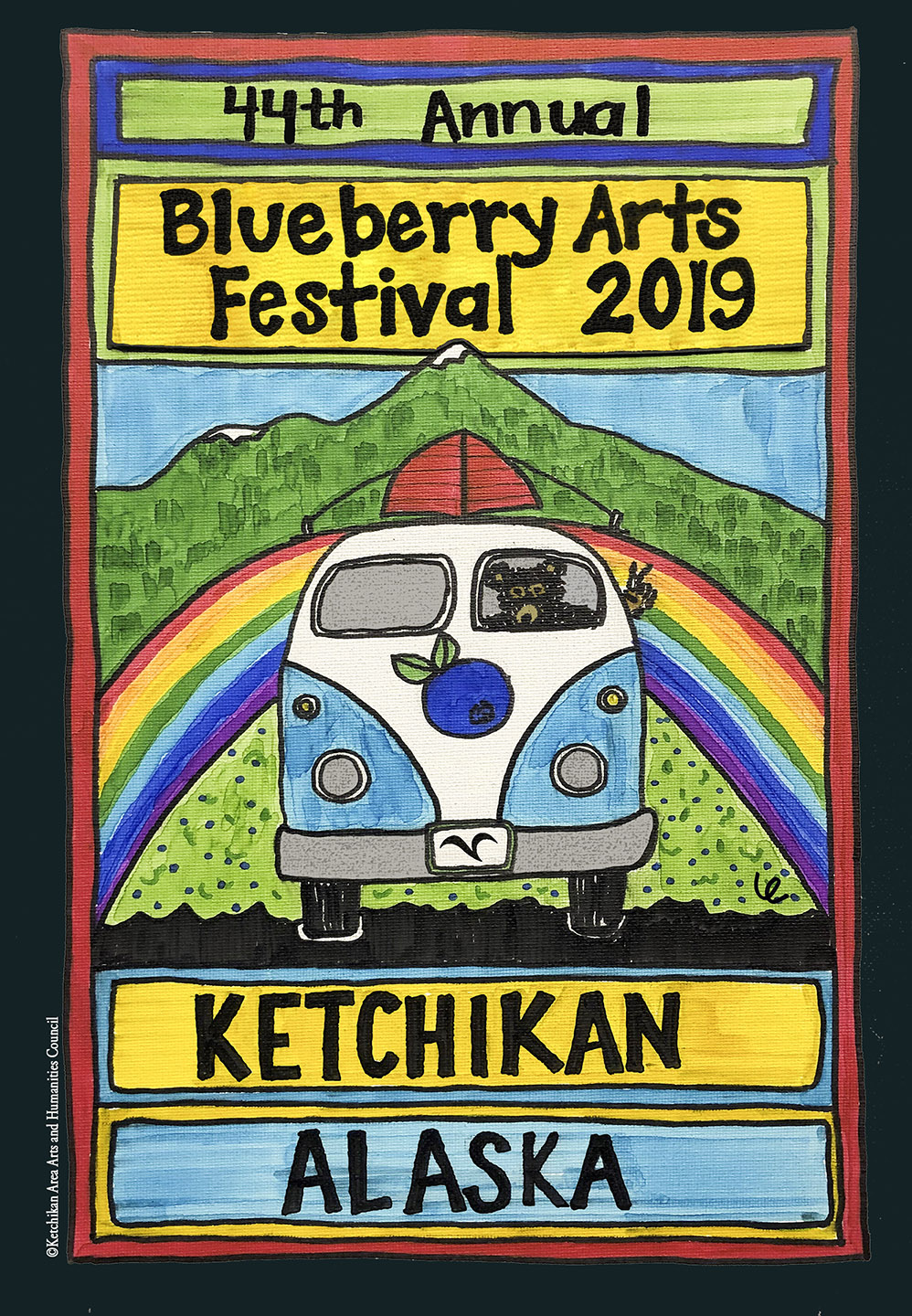 2019 Blueberry Arts Festival Stickers