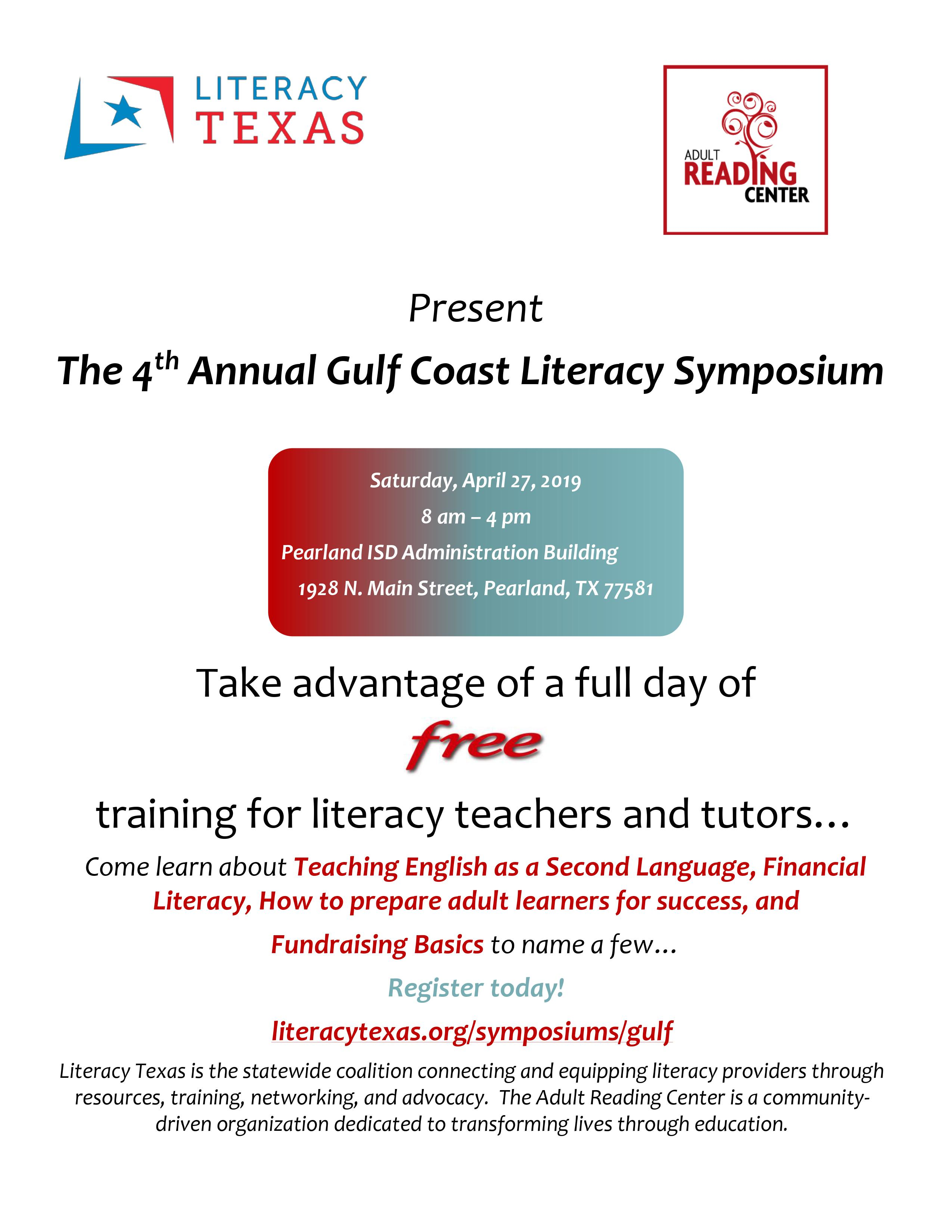 4th Annual Gulf Coast Literacy Symposium