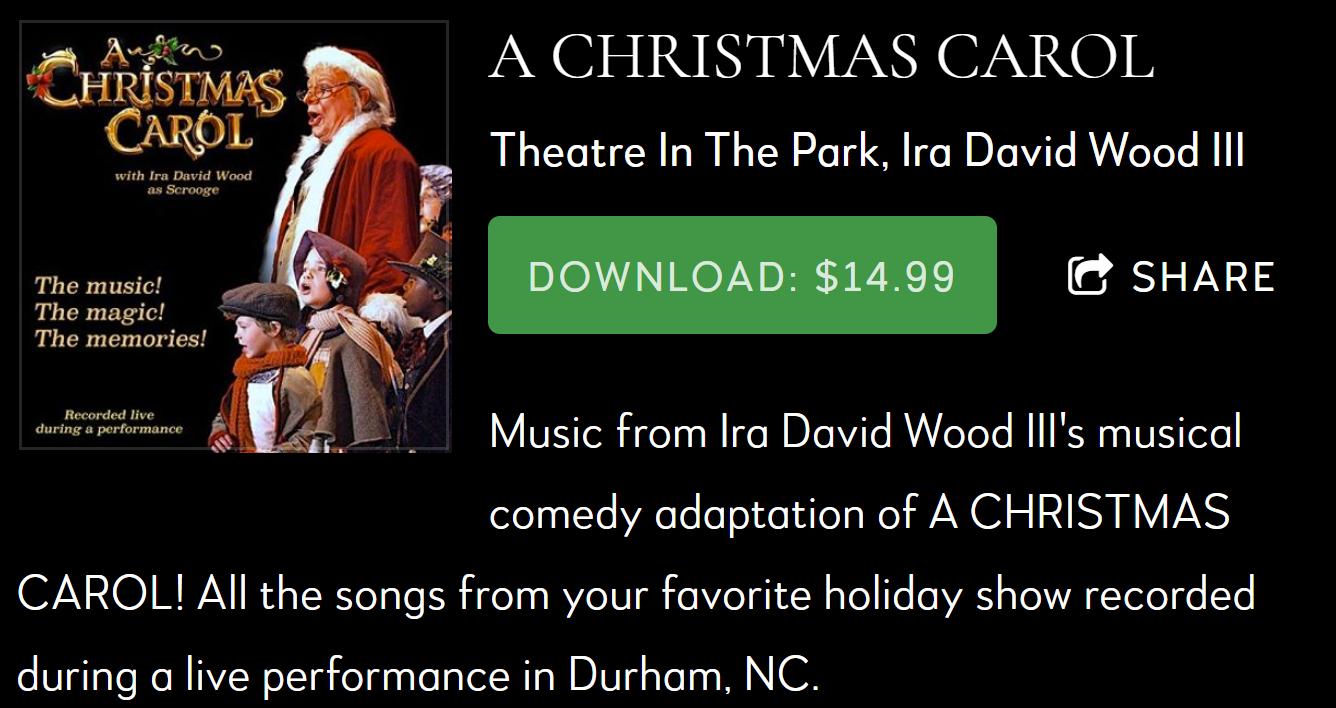 Ira David Wood Christmas Carol 2021 A Christmas Carol 2020