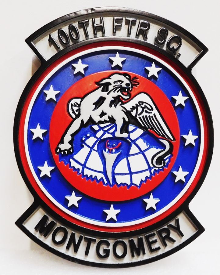 LP-2248 - Carved Plaque of the Crest of the 100th Fighter Squadron