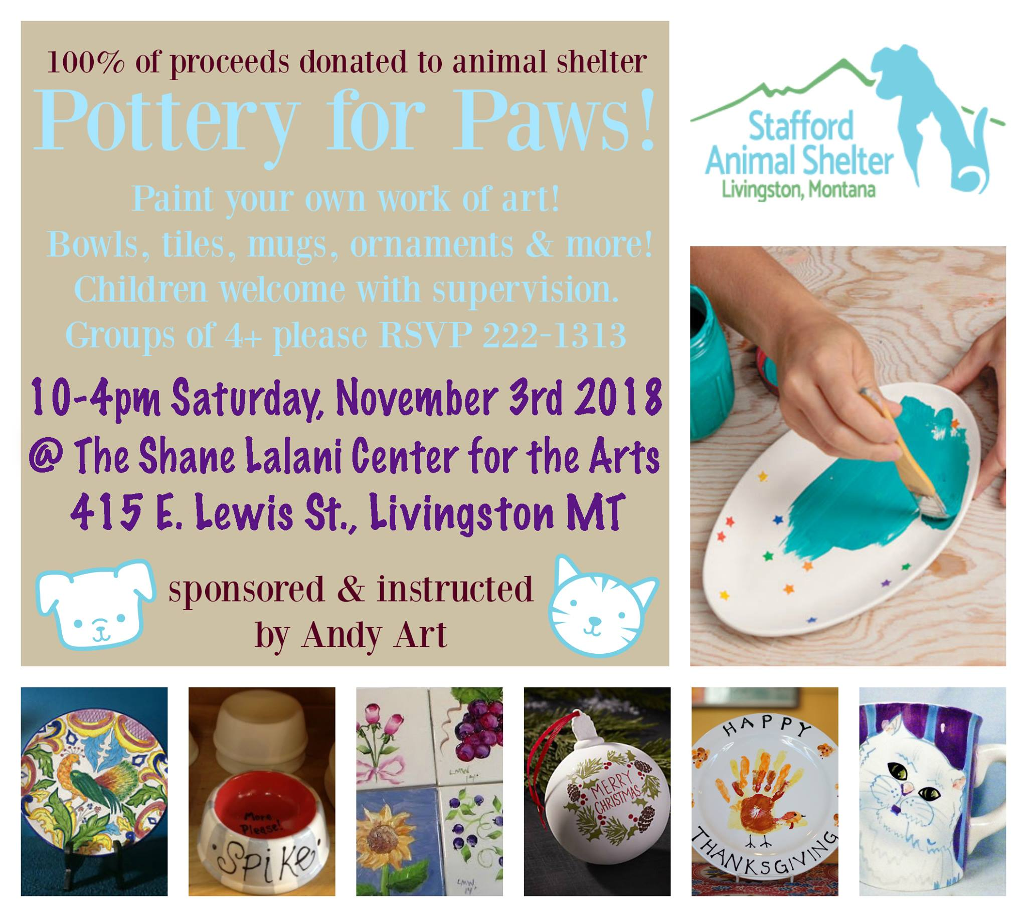 Pottery for Paws: Stafford Animal Shelter
