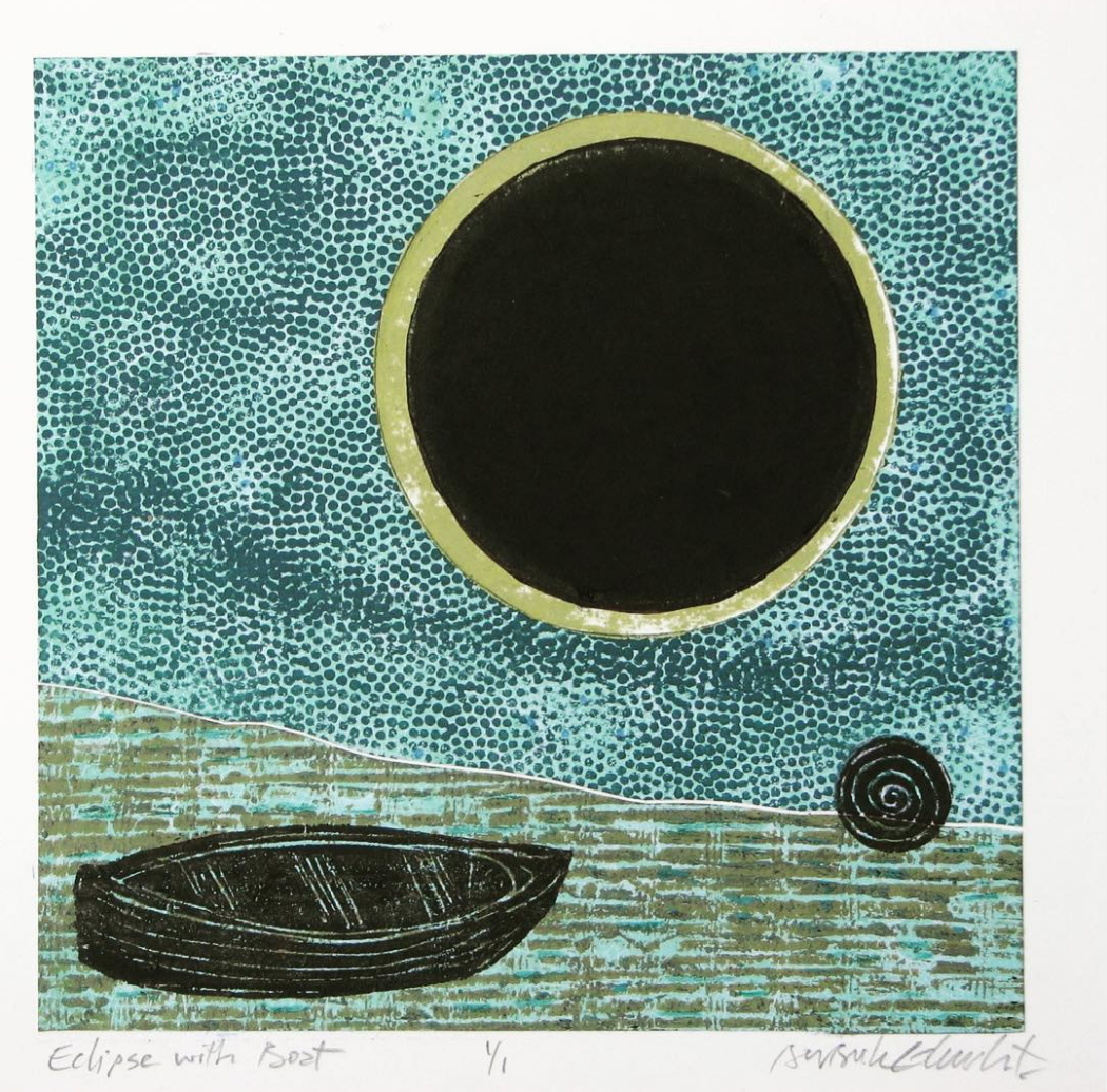 Eclipse with Boat
