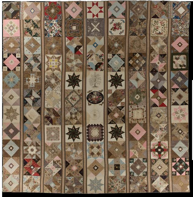 Album, maker unknown, made in Philadelphia, Pennsylvania, dated 1842 & 1843, 131.5 x 131.5, IQSCM 2005.059.0001