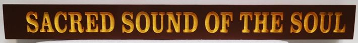 "D13206 - Engraved 2.5-D Western Red Cedar Wall Plaque with Text  ""Sound of the Soul"""
