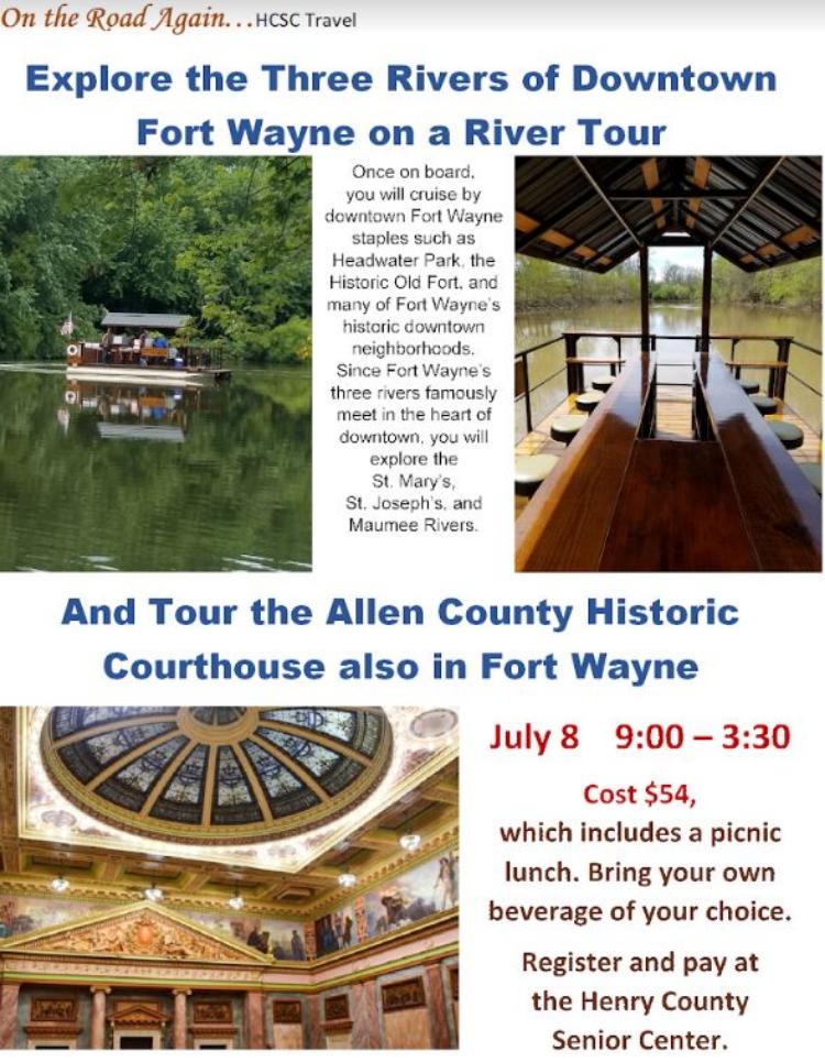 July 8 Fort Wayne 3 River Cruise