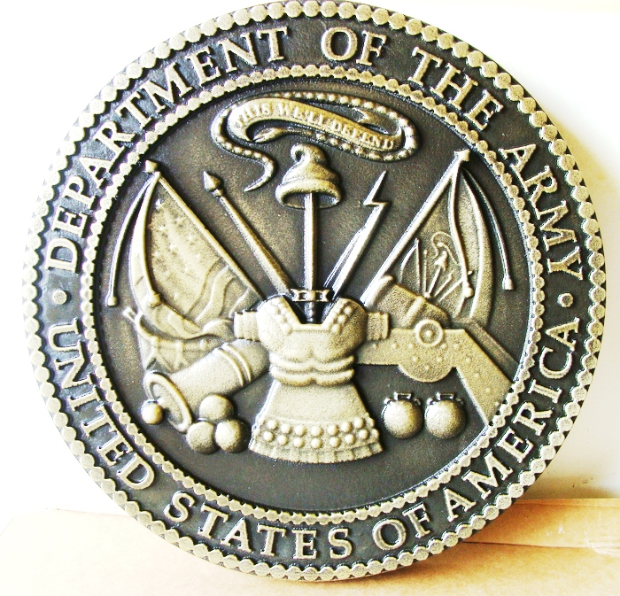 M7148 - Brass  Wall Plaque of US Army Great Seal