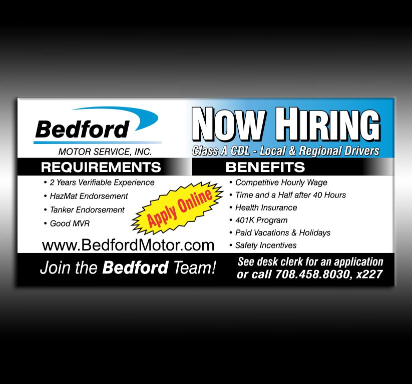 Bedford Now Hiring